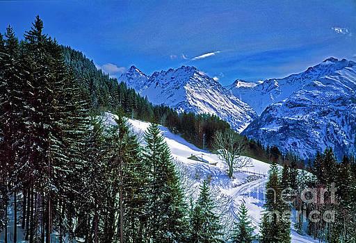 Cabin in the Alps Switzerland, ski by Tom Jelen