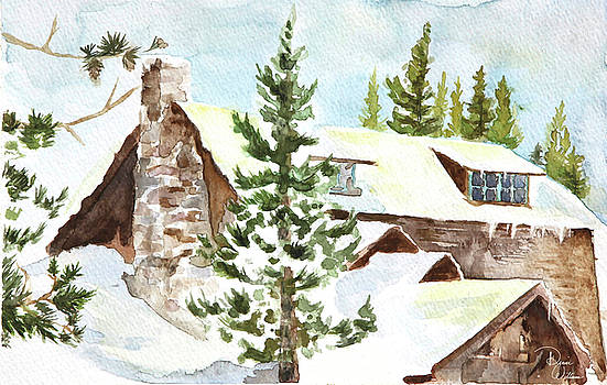 Cabin in the Mountains by Denise Jo Williams