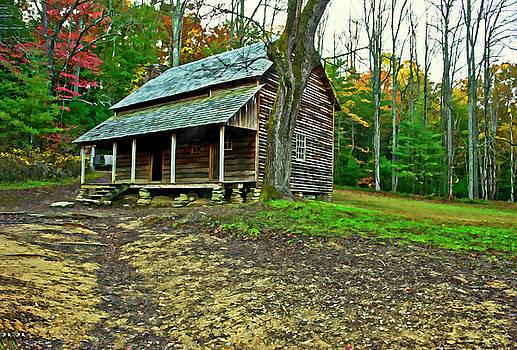 Cabin in the Smokies by Gordon Ripley
