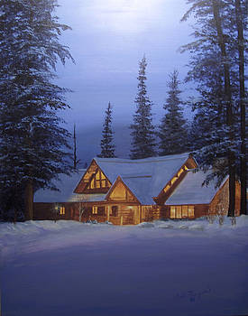 Cabin In The Woods by Gail Finger