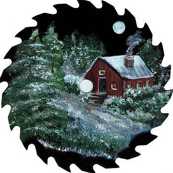 Cabin in Woods by Olga Kaczmar