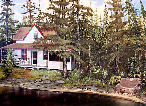 Cabin on the St Lawrence by James R Hahn