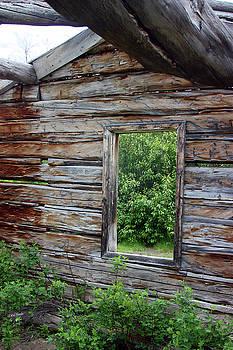 Cabin Window by Rick Thiemke