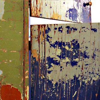 Cabinet with Peeling Paint by Joanna  Katz