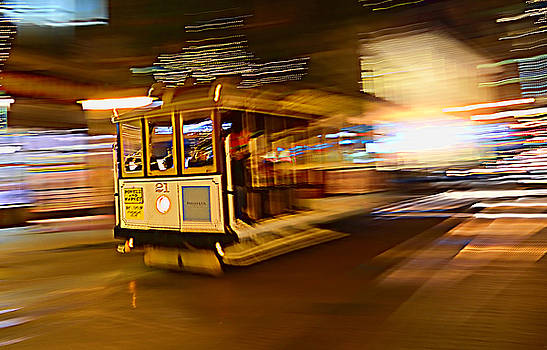 Cable Car at Light Speed by Steve Siri