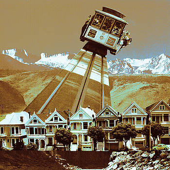 Art America Gallery Peter Potter - Cable Car Fly - San Francisco Collage