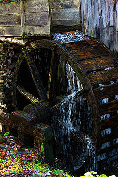 Cable Grist Mill Cades Cove Smoky Mountains National Park by Carol Mellema