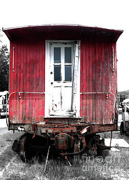 Caboose in Barn Red  by Steven Digman