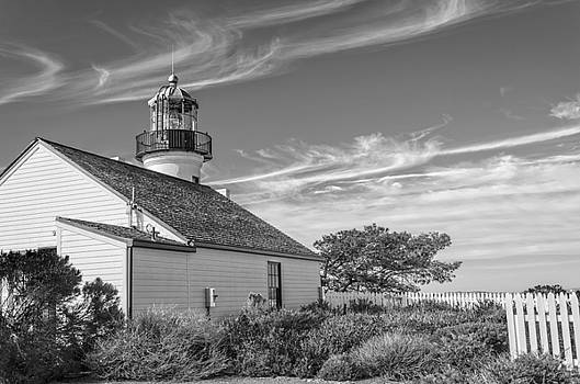 Cabrillo Lighthouse BW by Rob Nelms