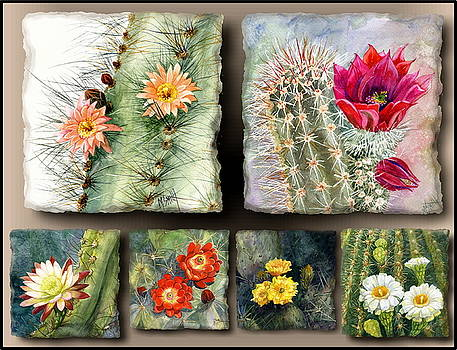 Cactus Collage 10 by Marilyn Smith