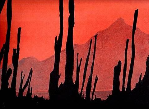Cactus Silhouette by Julia Woodman