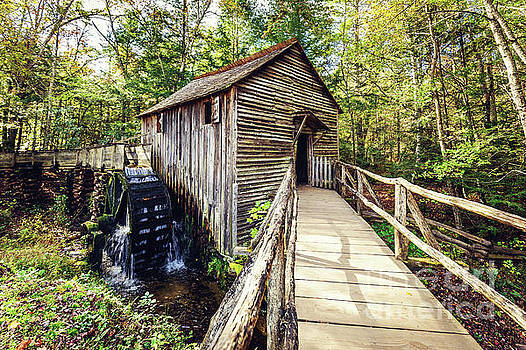 Cades Cove Grist Mill by Joan McCool