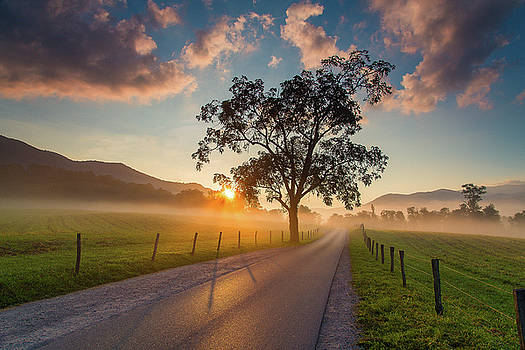 Cades Cove Sunrise by Jackie Novak