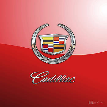 Serge Averbukh - Cadillac - 3 D Badge on Red