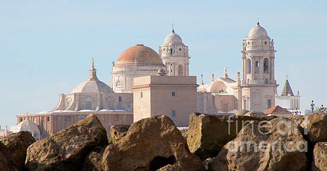 Cadiz Cathedral--A View from the Beach by PJ Boylan