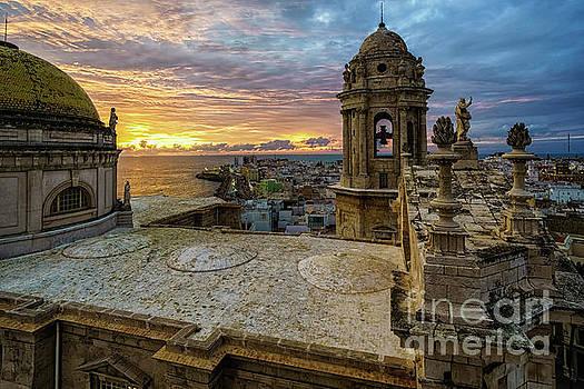 Cadiz Cathedral View Levante Tower Cadiz Spain by Pablo Avanzini