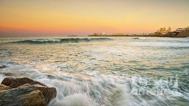 Cadiz Skyline from Santa Maria Beach Cadiz Spain by Pablo Avanzini