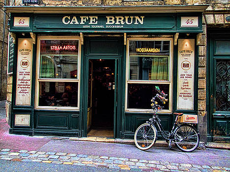 Cafe Brun in L'Orient France by David Smith