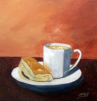 Cafe con Leche y Tostada by Maria Soto Robbins