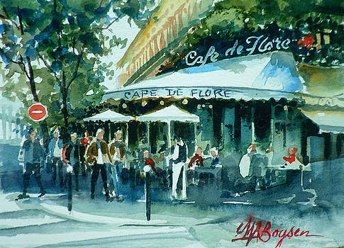Cafe de Flores by Maryann Boysen