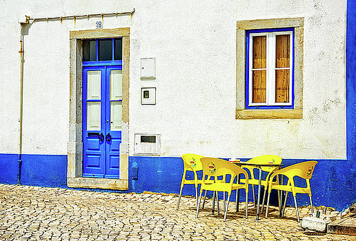 Cafe in Portugal by Marion McCristall