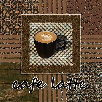 Cafe Latte - Coffee Art - Caramel by Anastasiya Malakhova