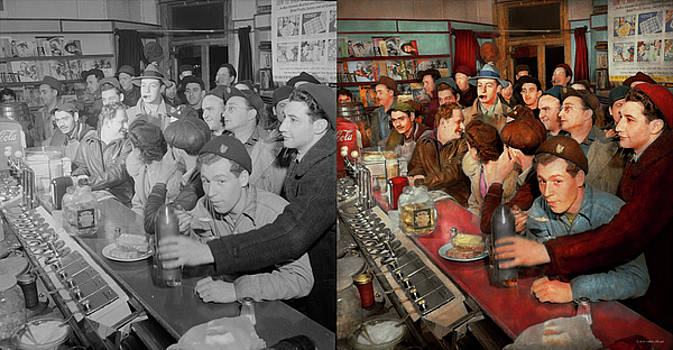 Cafe - Midnight Munchies 1943 - Side by Side by Mike Savad