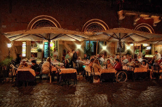 Cafe, Rome by Kirk Sewell