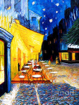 Cafe Terrace at Night  by D Fessenden