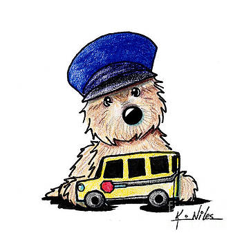 Cairn Terrier Bus Driver by Kim Niles
