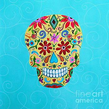 Calavera Sugar Skull I by Pristine Cartera Turkus
