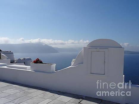 Caldera view from Oia in Santorini by Mitzisan Art LLC