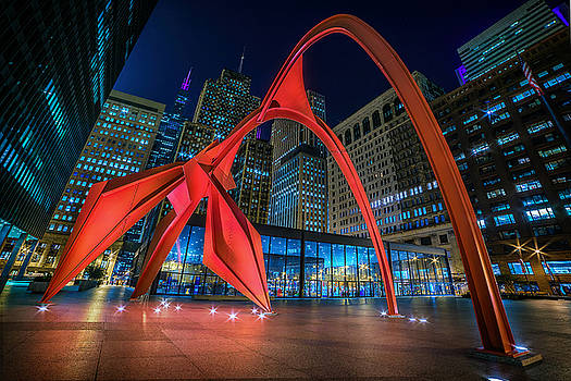 Calder's Flamingo by Zouhair Lhaloui