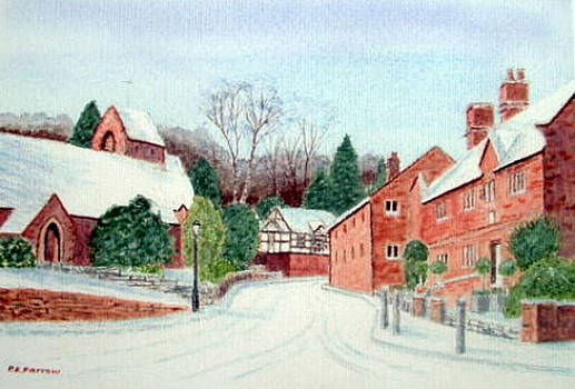 'Caldy Village in Winter', Wirral by Peter Farrow