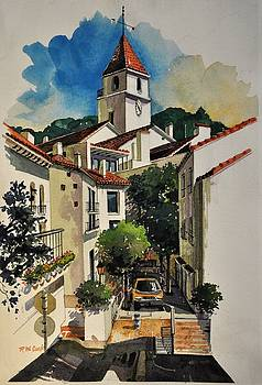Calella Town Tower by Robert W Cook