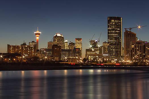 Calgary Lights by Celine Pollard