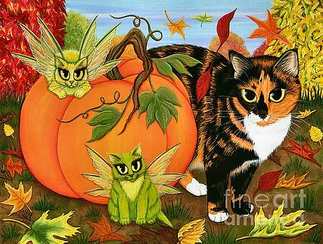 Calico's Mystical Pumpkin by Carrie Hawks