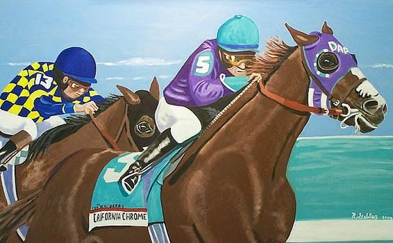 California Chrome KY Derby by Robert E Gebler