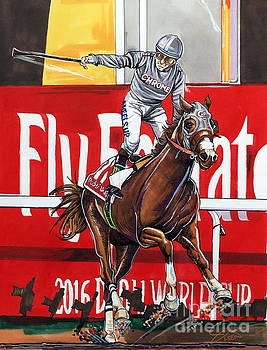 California Chrome wins the 2016 Dubai World Cup by Dave Olsen