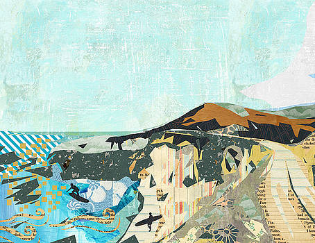 California Coast Collage by Claudia Schoen