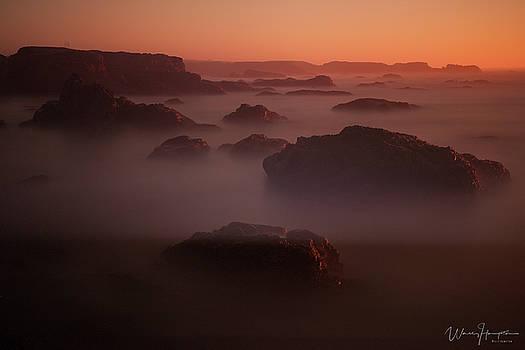 California Coast Landscape - 8580,S by Wally Hampton