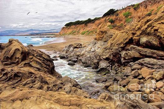 Dan Carmichael - California Coast Rocks Cliffs and Beach AP