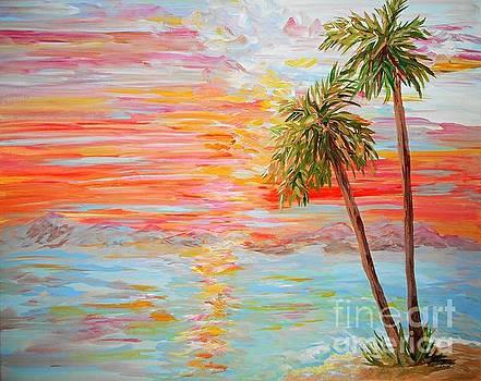 California Coast Sunset by Eloise Schneider Mote