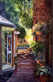 California Courtyard by Betsy Aguirre