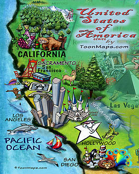 Kevin Middleton - California Fun Map