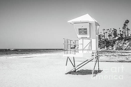 Paul Velgos - California Lifeguard Tower in Black and White