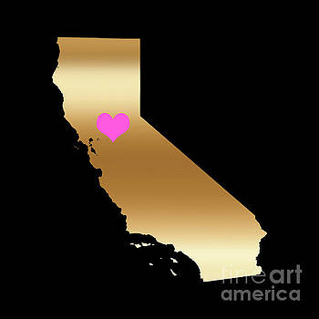 California Love on Black Background by Leah McPhail