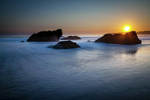 California Ocean Sunset by R Scott Duncan