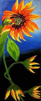 California Orange Sunflower #3 by Portland Art Creations