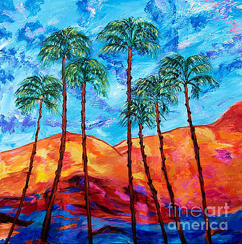 California Palm Trees by Art by Danielle